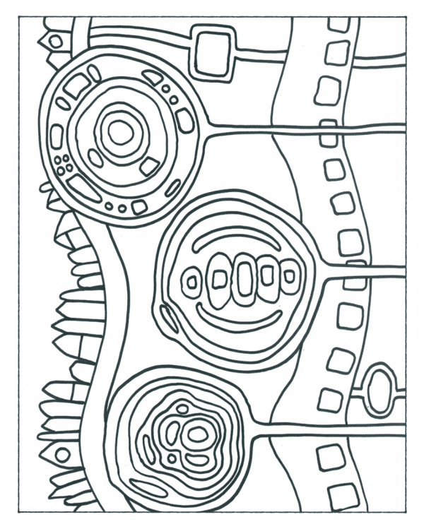 Free hundertwasser coloring pages